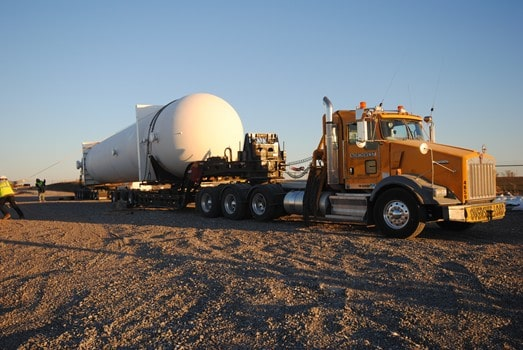 176,000lb vessel haul with Northwest's 13 Axle Rear Steerable Trailer