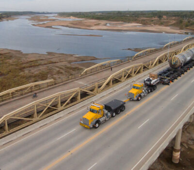 northwest heavy haul crossing highway bridge