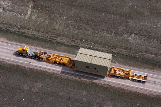 Transporting 2 Natural Gas Compressors From Wyoming to North Dakota